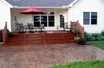 Deck and Driveway